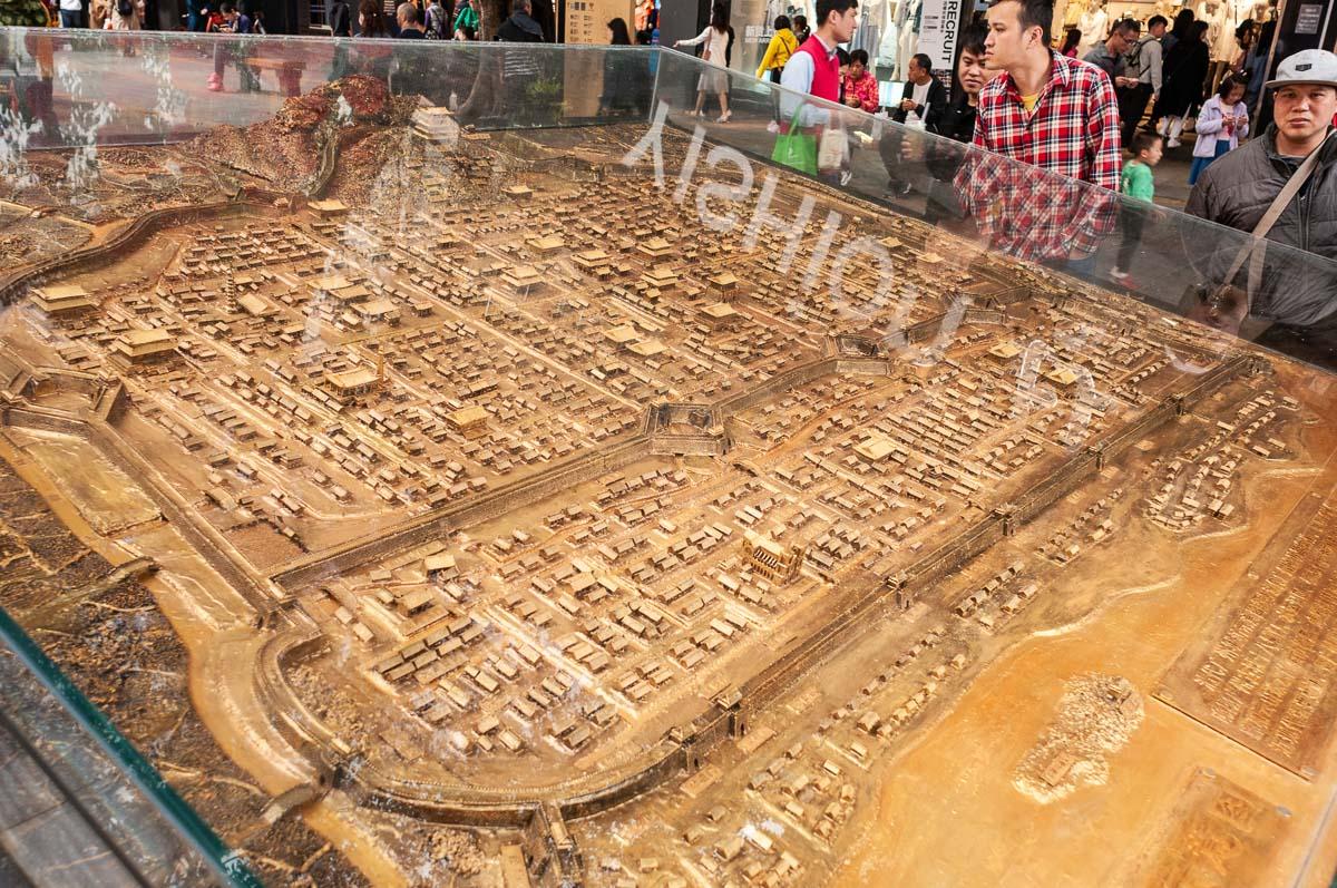 На макете XII век Гуанчжоу