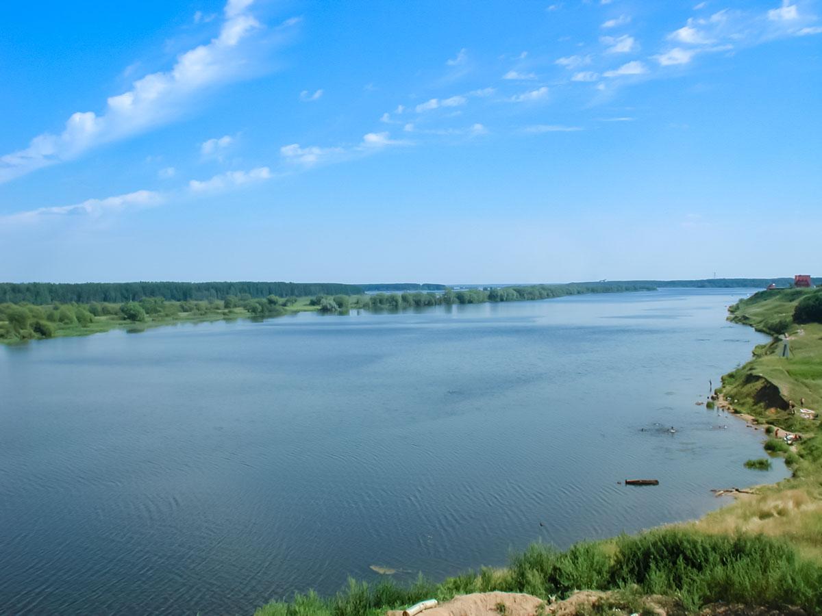Волга ниже села Городня